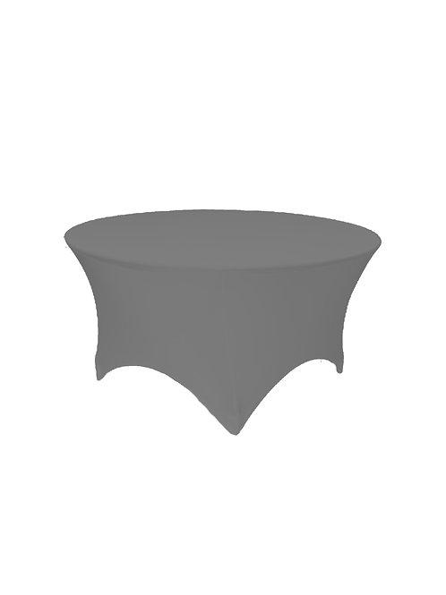 GREY ROUND STRETCH TABLE CLOTH