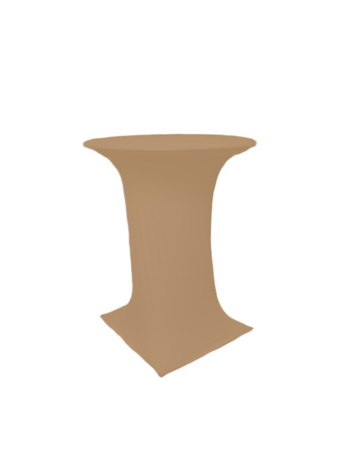 STONE BROWN COCTAIL STRETCH TABLE CLOTH