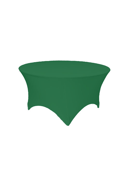 HUNTERS GREEN ROUND STRETCH TABLE CLOTH