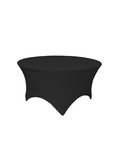 BLACK ROUND STRETCH TABLE CLOTH
