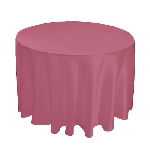 SATIN DUSTY PINK TABLE CLOTH