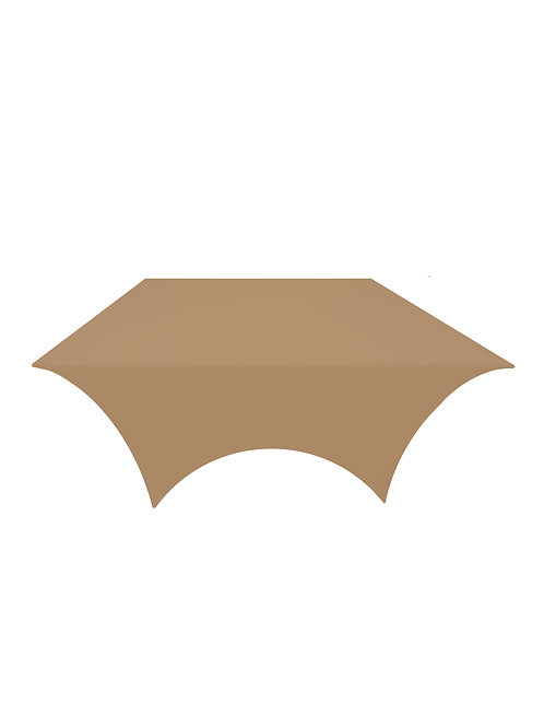 STONE BROWN SQUARE STRETCH TABLE CLOTH