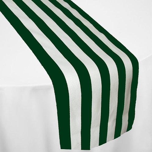 WHITE & GREEN STRIPE MINI MATT RUNNER