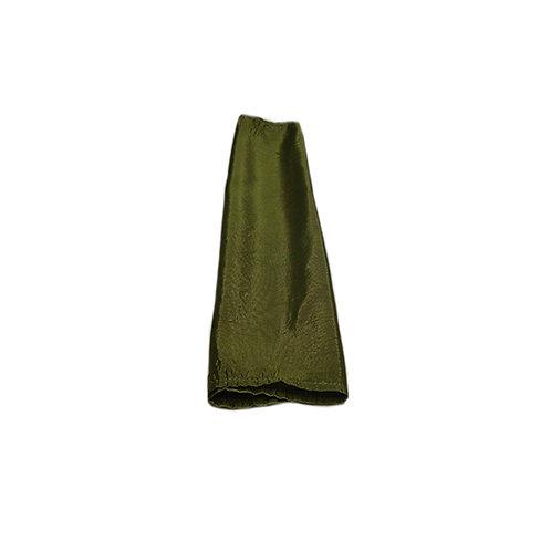 OLIVE GREEN PLAIN TAFFETA SERVIETTE