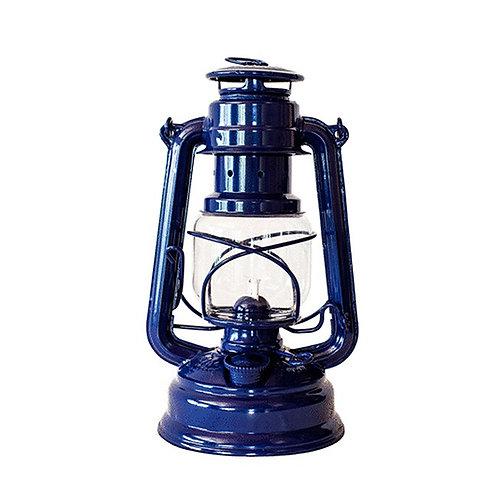 Blue Hurricane Lamp