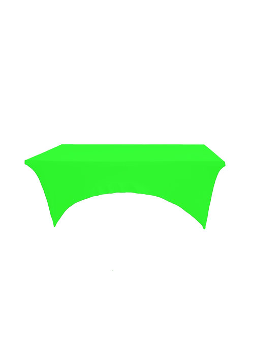 LIME GREEN RECTANGULAR STRETCH TABLE CLOTH
