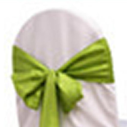 APPLE GREEN TAFFETA TIEBACK