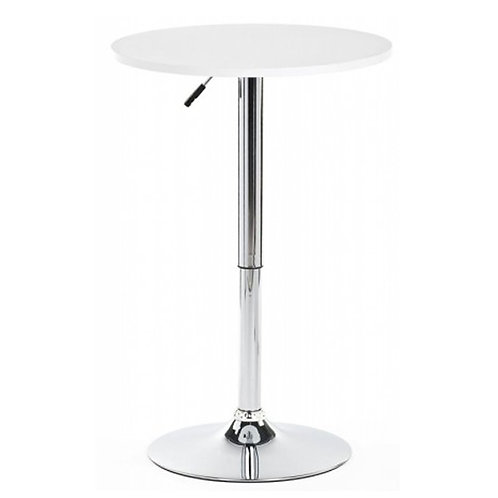 WHITE ROUND COCKTAIL TABLE 800 MM