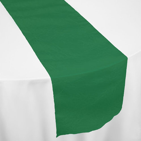 EMERALD GREEN TAFFETA RUNNER
