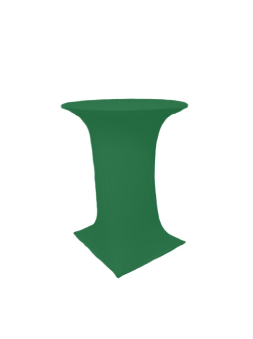 HUNTERS GREEN COCTAIL STRETCH TABLE CLOTH