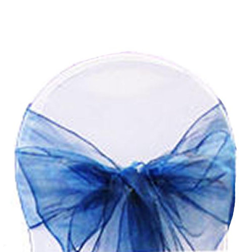 BABY BLUE TURQUOISE ORGANZA TIEBACK