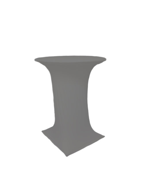 GREY COCTAIL STRETCH TABLE CLOTH