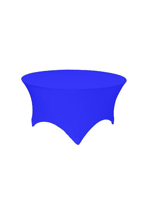 ROYAL BLUE ROUND STRETCH TABLE CLOTH