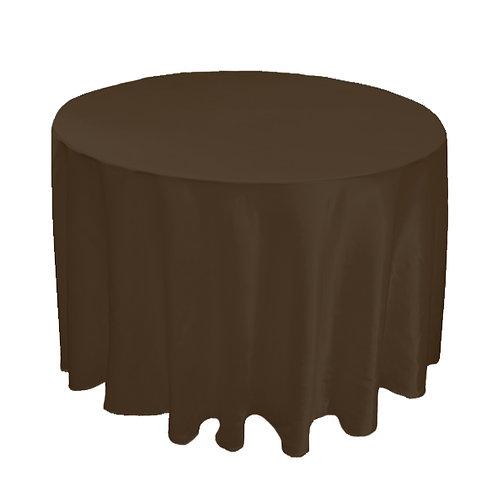 SATIN BROWN TABLE CLOTH