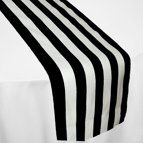 WHITE & BLACK STRIPE MINI MATT RUNNER