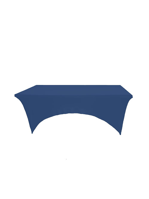 NAVY BLUE RECTANGULAR STRETCH TABLE CLOTH