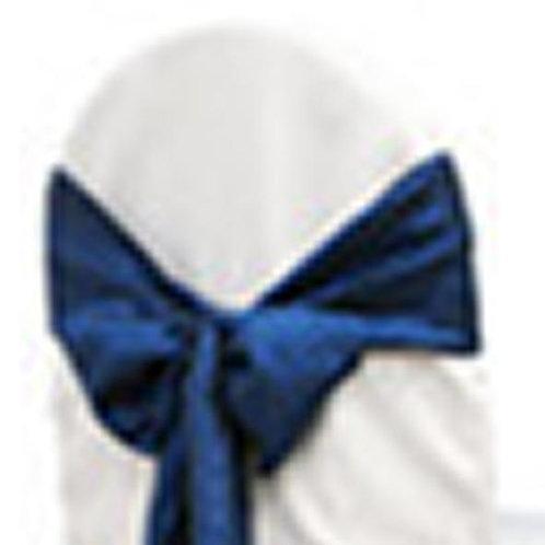 NAVY BLUE TAFFETA TIEBACK