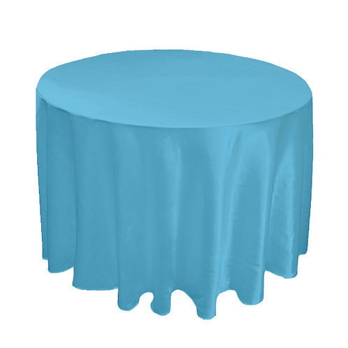 SATIN TURQUOISE TABLE CLOTH