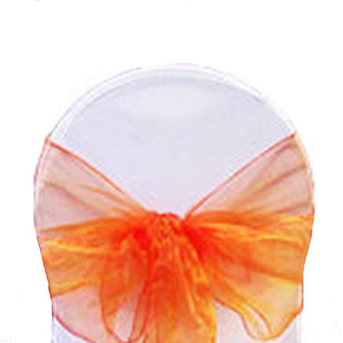 BURNT ORANGE ORGANZA TIEBACK