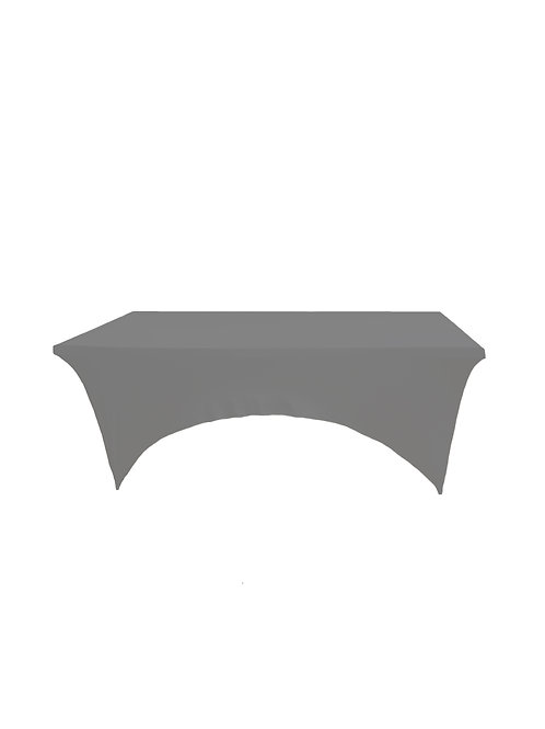 GREY RECTANGULAR STRETCH TABLE CLOTH