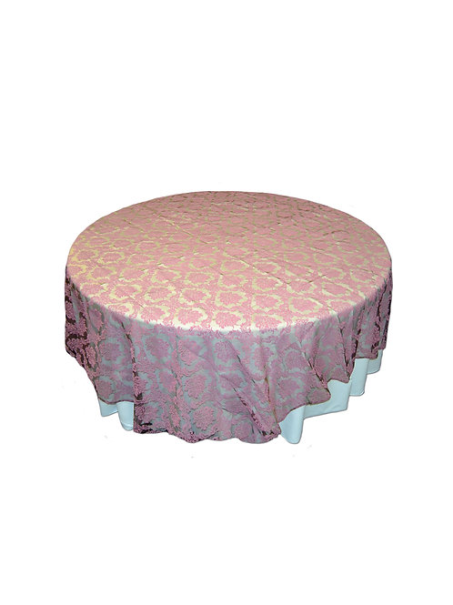 BABY PINK PATTERN TABLE CLOTH