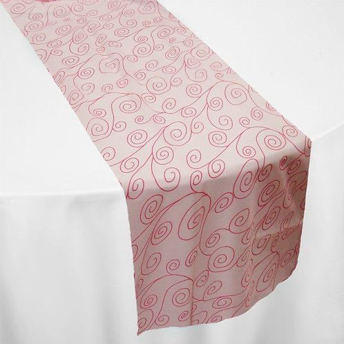 PINK (TWIRL EMBROIDERY) RUNNER