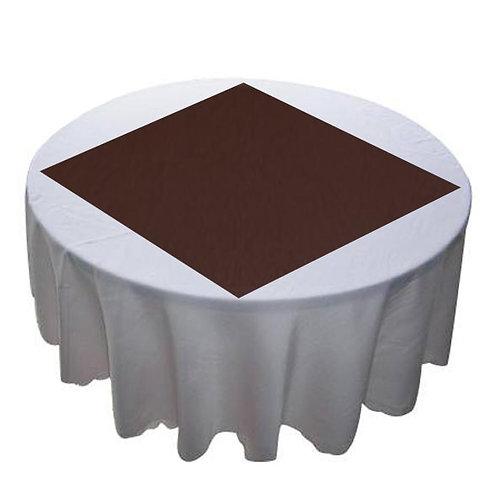 CHOCOLATE BROWN ORGANZA OVERLAY