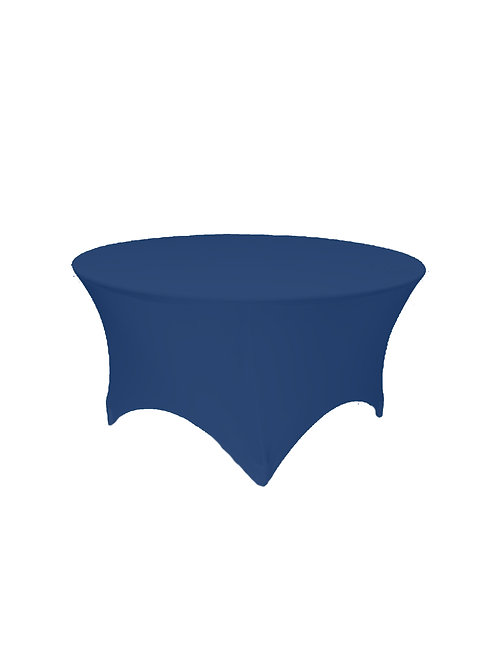 NAVY BLUE ROUND STRETCH TABLE CLOTH