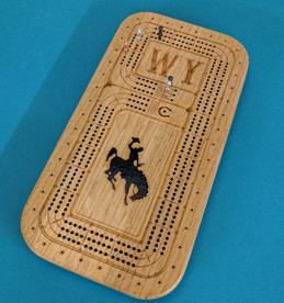 Wyoming Bucking Horse Cribbage Board