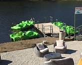 Location de pédalos sur le lac de MERVENT