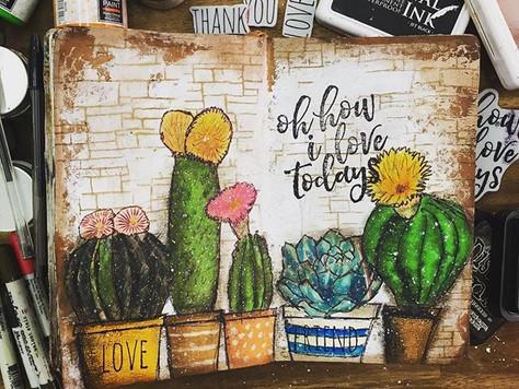 Art Journal - Cactus
