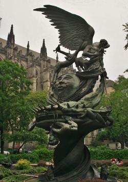 Sculpture Outside a Gothic Church