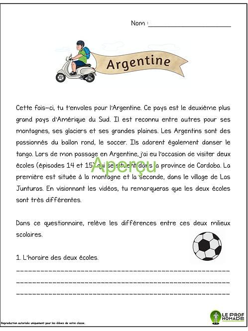Épisodes 14 et 15: l'Argentine (niveau 2)