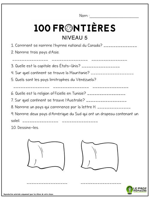 100 frontières (niveau5)