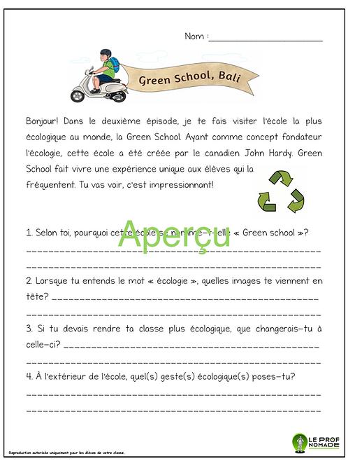 Épisode 2: Green School, Bali  (niveau 2)