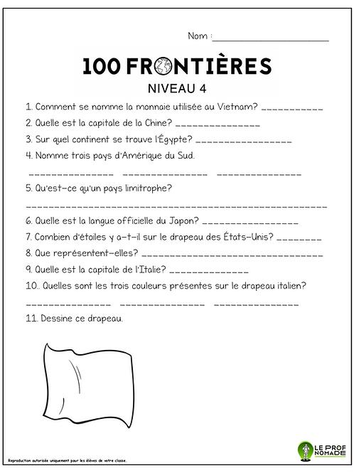 100 frontières (niveau4)