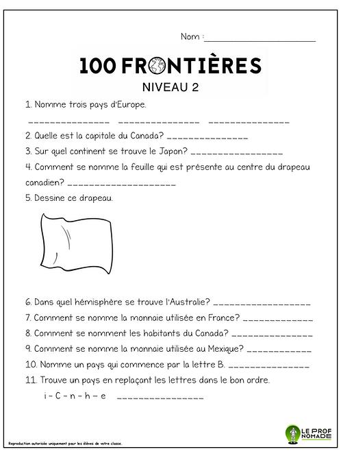 100 frontières (niveau2)