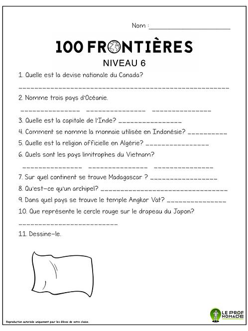 100 frontières (niveau6)