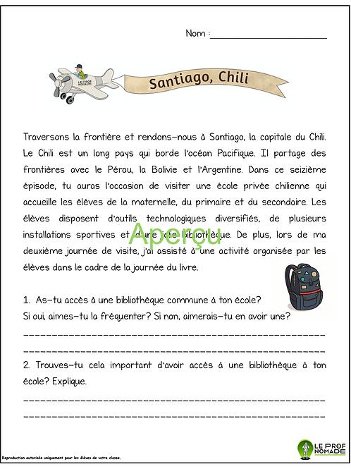 Épisode 16: Santiago, Chili (niveau 1)