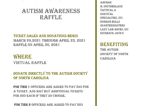 Durham FOP Autism Awareness Raffle - 2021