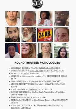The 24 Hour Plays: Viral Monologues