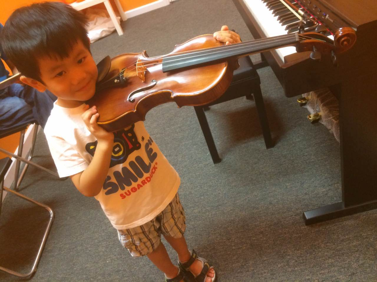 Our young violin student