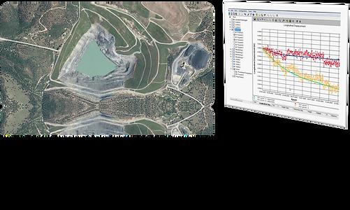 ejemplo monitorización de presas y taludes