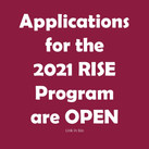 Applications for the 2021 RISE Program are OPEN!