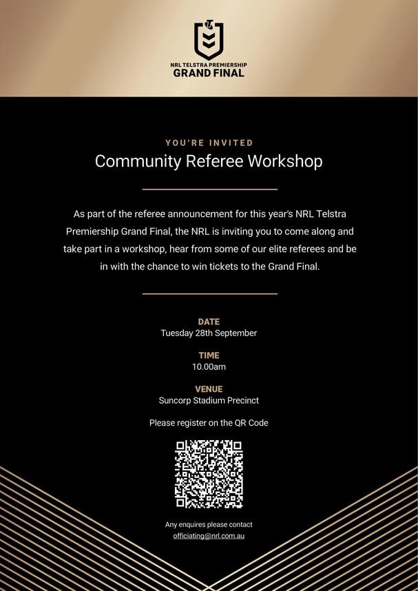 NRL Community Referee Workshop