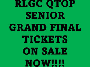 RLGC QTOP Grand Final Tickets - ON SALE NOW!!