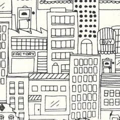 SCRIBBLE CITY IN BLACK