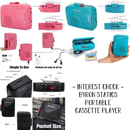 [ Group Order INA🇮🇩 ] USA Store🇺🇸 - Byron Statics Walkman Cassette Player
