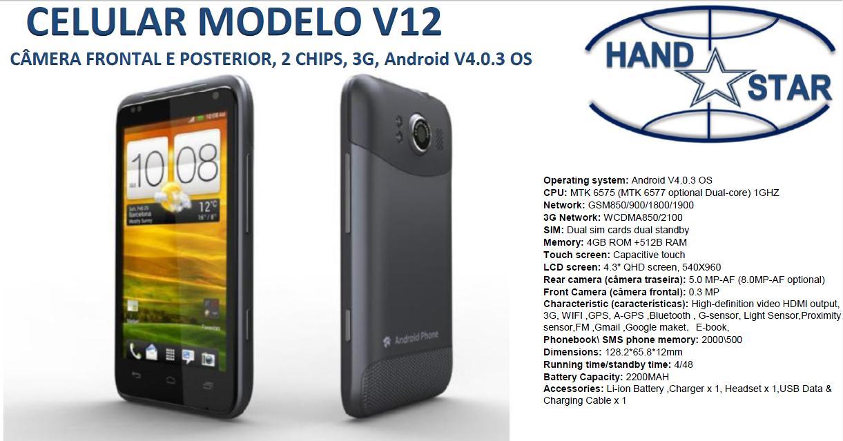 Aparelho celular V12
