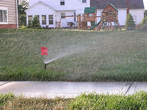 Sprinklers Running